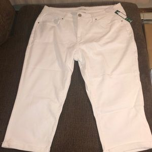 NEW Women's Time and Tru Mid Rise Capris Size 20